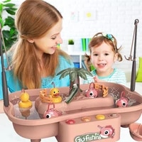 baby bathing toy for toddlers montessori fishing board game children bath toys for kids boys girls water table musical gifts
