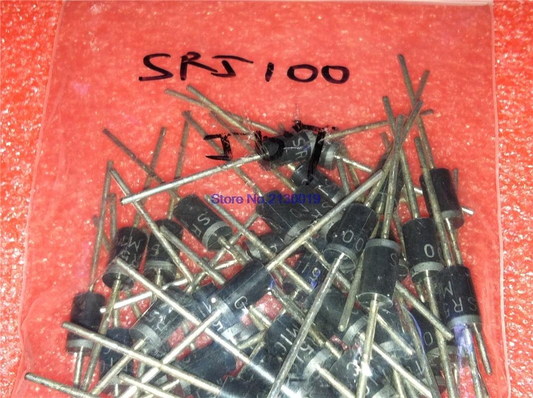 20pcs/lot schottky diode SR5100 5A/ 100V DO -27 SB5100 In Stock