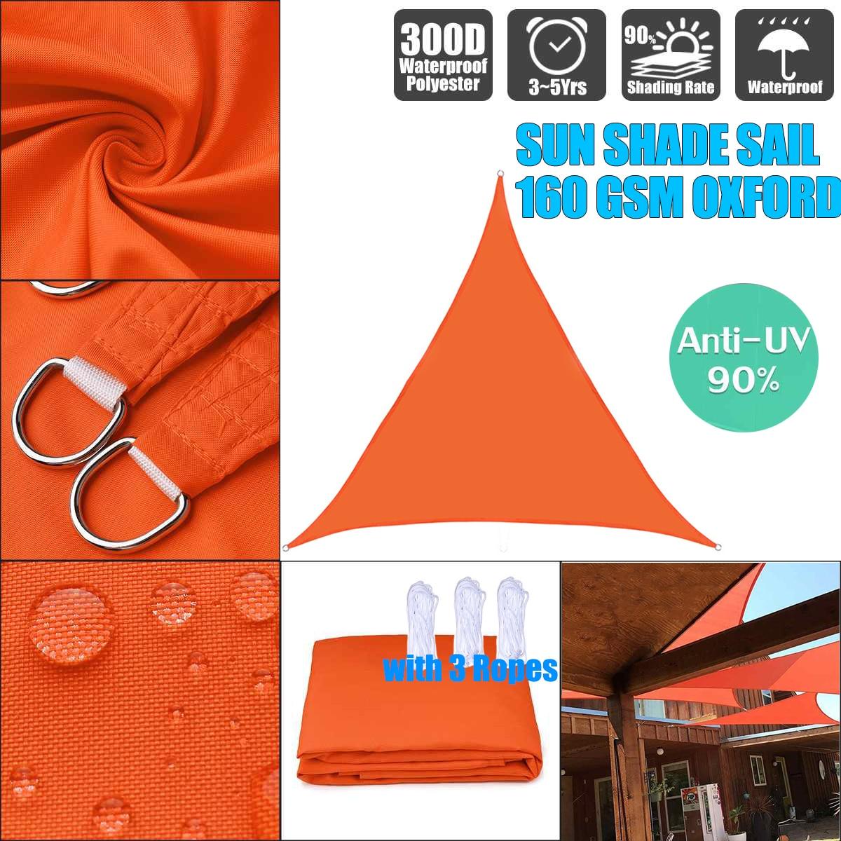 Toldo naranja Regular triángulo parasol exterior toldo impermeable protección exterior toldo jardín Patio piscina sombra vela
