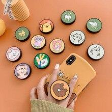 Drôle De Bande Dessinée support Pliant Pour Support De téléphone Portable Pour Huawei Pour iphone XS 7 plus Etui Pour Téléphone Mignon Prise Universelle Kichstand
