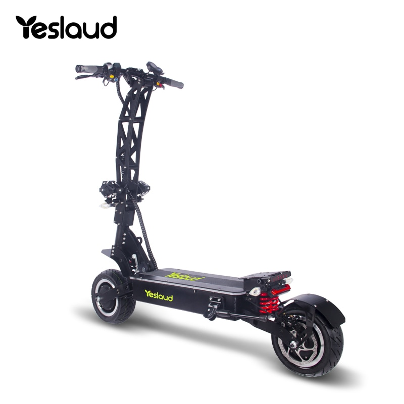 Fold Mini Yeslaud Powerful Wolf 72v Electric Scooter Dual Motor 7000w 3000w Adult Black Scooters