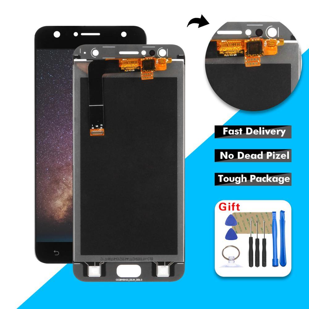 "AAA 5,5 ""LCD para ASUS Zenfone 4 Selfie ZD553KL X00LD LCD pantalla táctil digitalizador montaje de vidrio + marco"