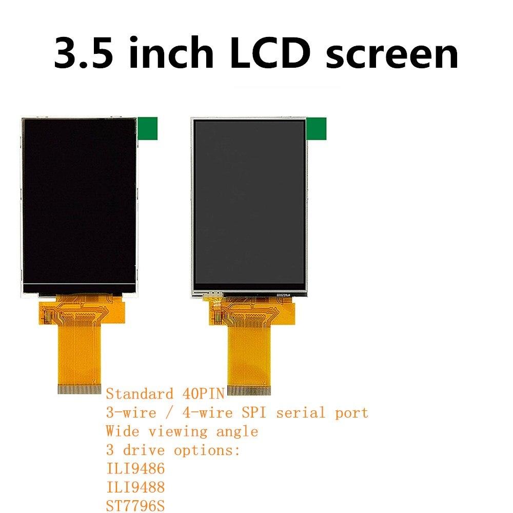 3,5-дюймовый ЖК TFT-дисплей ILI9486 ILI9488 ST7796S три варианта привода последовательный порт Параллельный порт 40PIN с сенсорным/без сенсорного экрана
