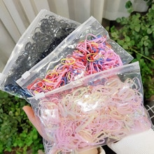 1500pcs/Pack Cute Girls Colorful Disposable Rubber Bands Gum For Ponytail Holder Baby Elastic Hair B