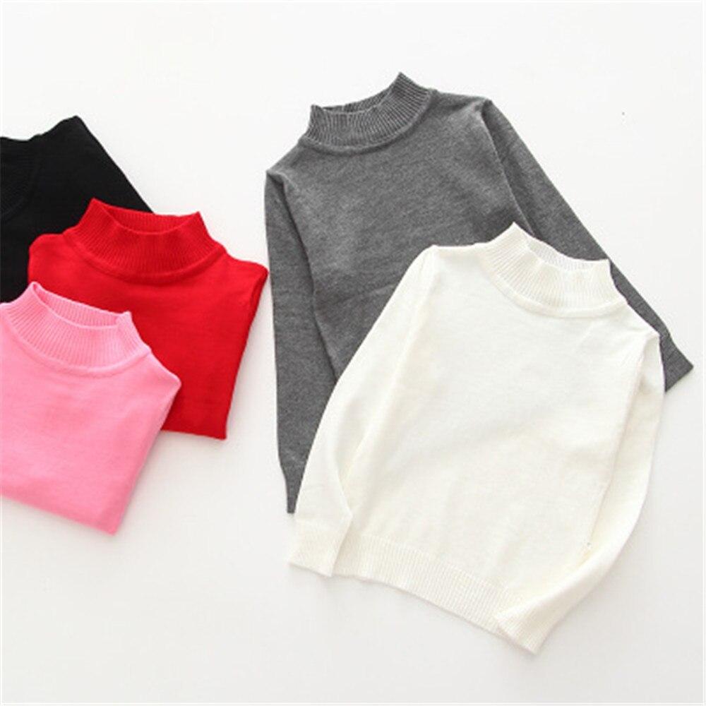 2020 primavera outono crianças camisola simples tartaruga pescoço meninos e meninas pulôver 1 2 3 4 5 6 7 anos de idade da criança roupas menina aa4278