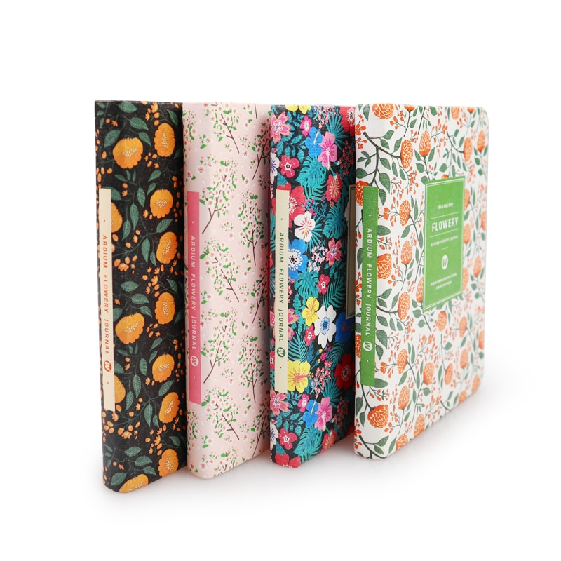 PU Leather Floral Flower Schedule Book Diary Weekly Planner Notebook School Office Supplies Kawaii Stationery Girl Gift