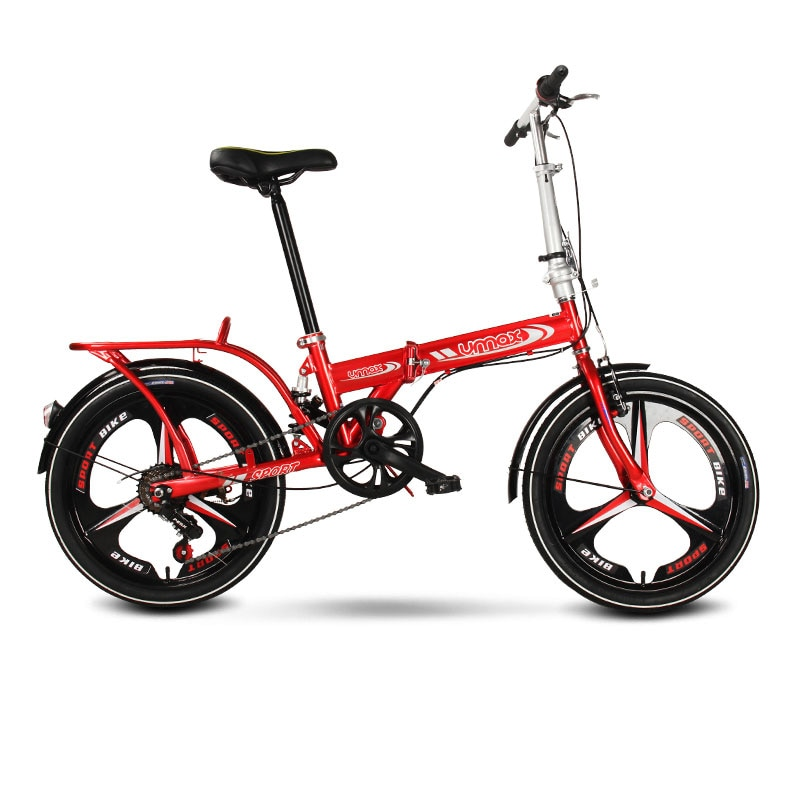 Folding Bicycle 20 Inch Three Knife Wheel Shifting Shock Absorption Adult Student Bike Men and Women