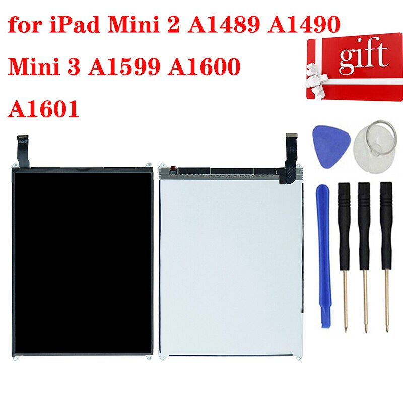 Para ipad Mini 2 A1489 A1490 LCD Panel de pantalla para ipad Mini 3 A1599 A1600 A1601 módulo LCD Monitor