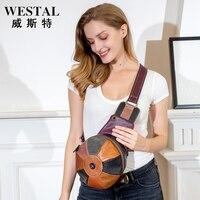 2021 summer new leather handbags fashion handbags trend stitching chest bag outdoor earphone hole single shoulder hat bag