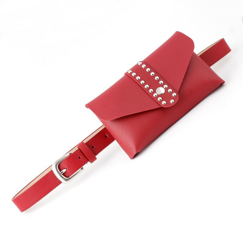 Fashion Leather Wasit Belt Bag Pin Buckle Belts For Women Solid Color Casual Bumbag Harajuku Cinturon Mujer Ceinture Femme Punk