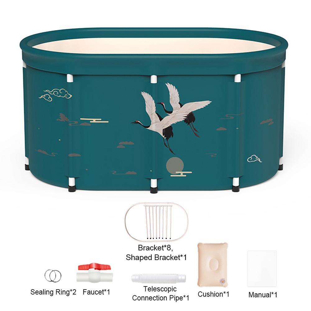 Portable Bathtub Thick Plastic Folding Bath Tub for Adults Baby Swimming Pool Insulation Family Bathroom SPA Sauna Bath Tub enlarge