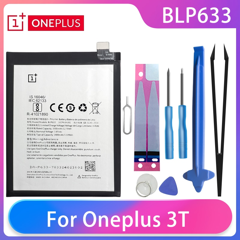 Original Oneplus 3T A2001 Phone Battery BLP633 3400mAh High Capacity One Plus Phone Batteries Free Tools Phone AKKU недорого