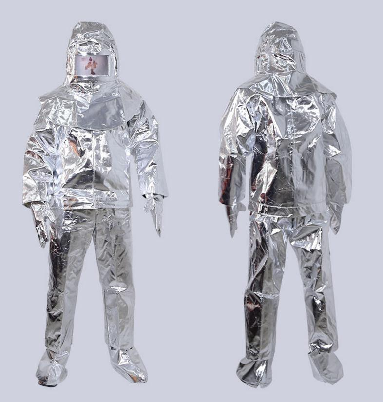 500℃ 932 ℉ fire fighting clothing ,fireproof apparel,thermal radiation protection suits, high temperature protective Coverall