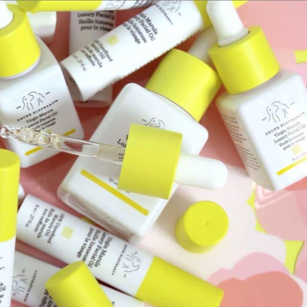 Drunk Elephant Virgin Marula Luxury Facial Oil - Vegan Anti-Aging Skin Care and Face Moisturizer primer