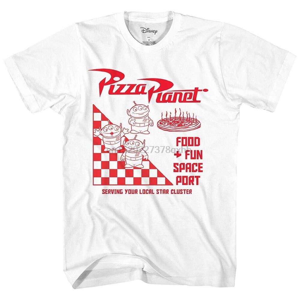 2020 pixar brinquedo história pizza planeta tirar logotipo adulto masculino gráfico camiseta