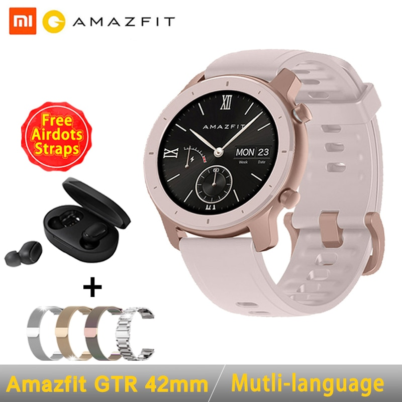 [Versión Global] reloj inteligente AMAZFIT GTR 42mm 5ATM impermeable GPS GLONASS Bluetooth Monitor de ritmo cardíaco