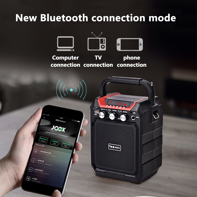High Power Portable Bluetooth Speaker Super Bass Column Subwoofer Music Center Support AUX FM Radio Bluetooth Column Boom enlarge