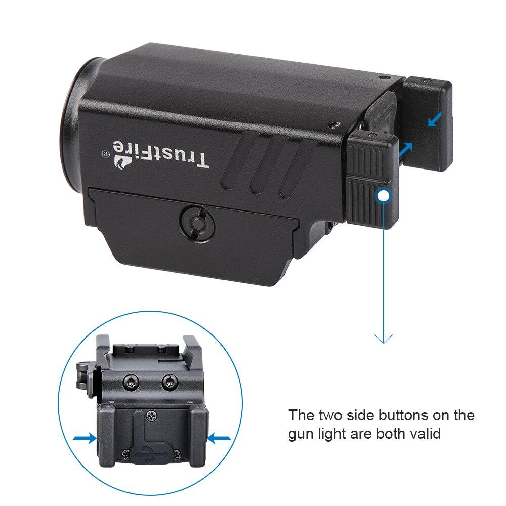 TrustFire GM23 Tactical Pistol Flashlight 800 Lumens Gun Glock Weapon Rail Mounted Light Police Handgun Torch USB Rechargeable enlarge