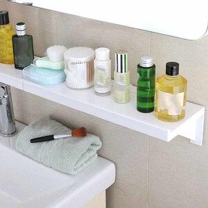 Bathroom Shelf Suction Cup Rack Punch Free Wall Storage Organizer Kitchen Display Shelves KSI999