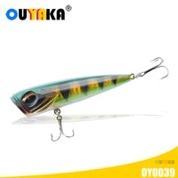 popper fishing lures weights 14g 8cm floating top water pesca accesorios mar equipment for pike fish articulos de pesca leurre