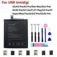 Аккумулятор для UMI Umidigi A1 A3 A5 One S2 F1 Play F2 S3 Super Touch Z Z2 Pro Max Lite, запасная батарея мАч