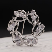 Sliver Gold Garland Brooch For Women's Exquisite Pin Jewelry Party Office Clothes Scarf Buckle Garme