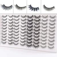 40pairs 3d mink lashes natural mink false eyelashes dramatic volume fake eyelash extension faux cils wholesale makeup tools