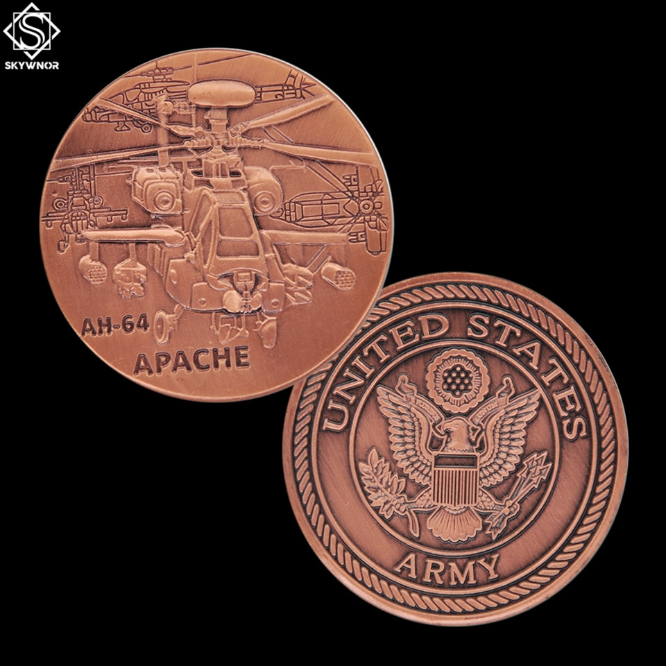 Американская армейская AH-64 монета с вертолетом, новая американская военная монета, латунная Монета на заказ для коллекции