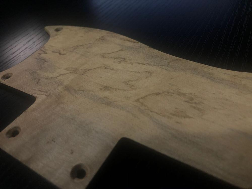 Electric guitar accessories. Natural handmade European maple. back cover enlarge