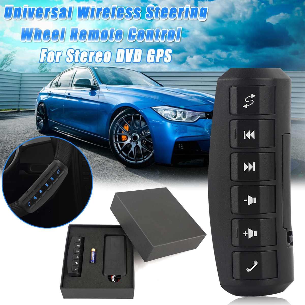 6 teclas Universal Multi-función de dirección inalámbrica de DVD de navegación GPS de coche volante de Radio botones de Control remoto 12V