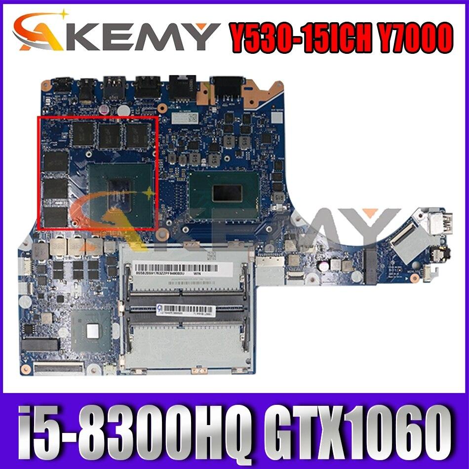 لينوفو Y530-15ICH Y7000 اللوحة الأم NM-B961 الفراء 5B20S91769 وحدة المعالجة المركزية i5-8300HQ وحدة معالجة الرسومات GTX1060 100% اختبار العمل اللوحة الرئيسية