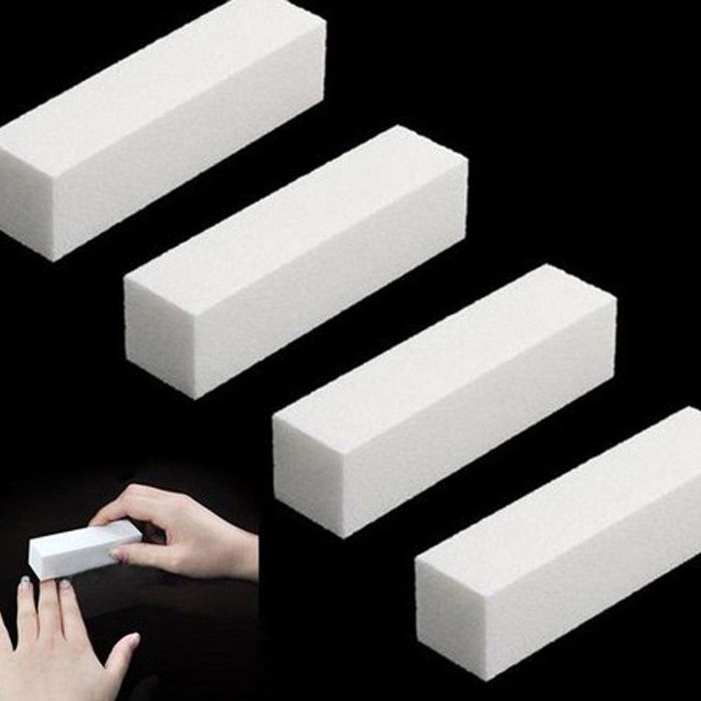Durable Schwamm Nagel Datei Weiß Schleifen Puffer Block Acryl Pediküre Maniküre Nagel Puffer Block Maniküre Nail art Werkzeug