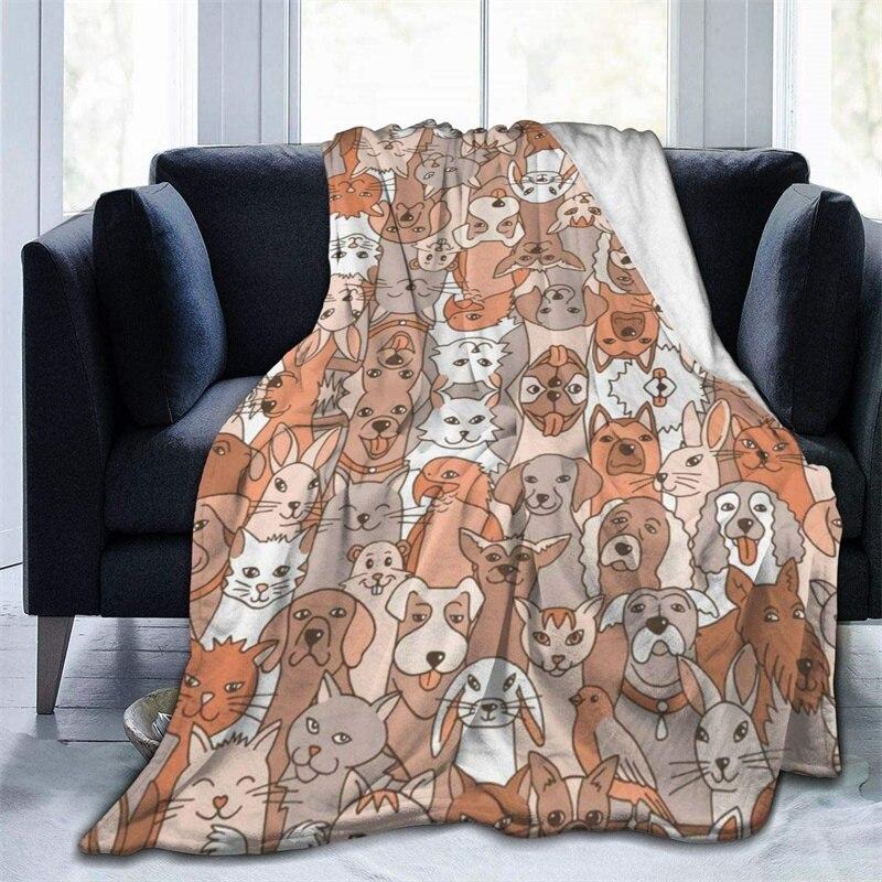 لطيف الحيوانات الخردل رمي بطانية ثلاثية الأبعاد طباعة على الطلب Sherpa سوبر مريحة ل أريكة رقيقة لحاف تكييف الهواء