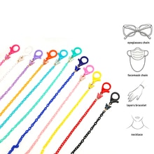 Kids Glasses Chain Colorful Mask Chain Acrylic Anti-lost Sunglasses Lanyard Butterfly Eyewear Neck C