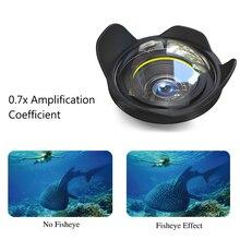 Seafrogs 67 мм рыбий глаз широкоугольный влажный купольный объектив для погружения под воду водонепроницаемый корпус для камеры для дайвинга чехол сумка крышка