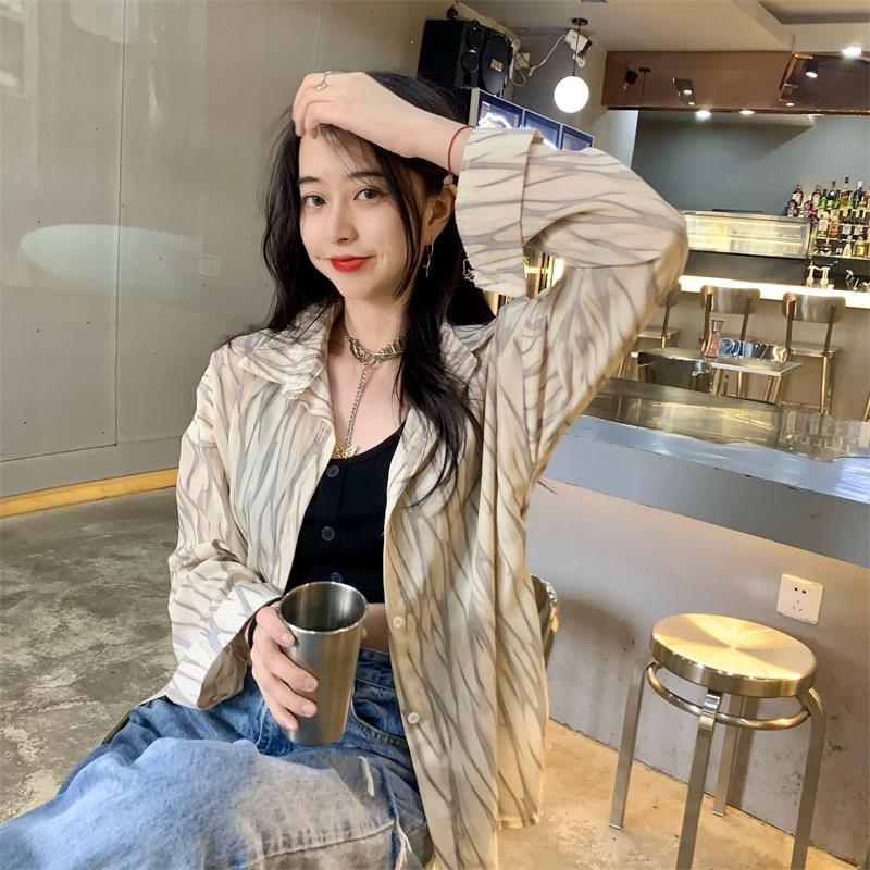 Summer Korean Style 2021 New Loose Thin Design Short Front and Long Back Sun Protection Long Sleeve