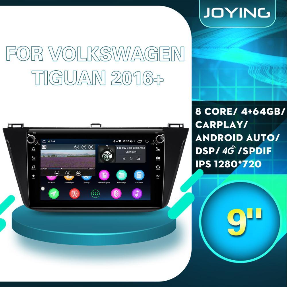 Unidad Principal de Radio estéreo para coche Android, grabadora de cinta para Volkswagen VW Tiguan 2016 2017 2018 2019, reproductor Multimedia de navegación GPS