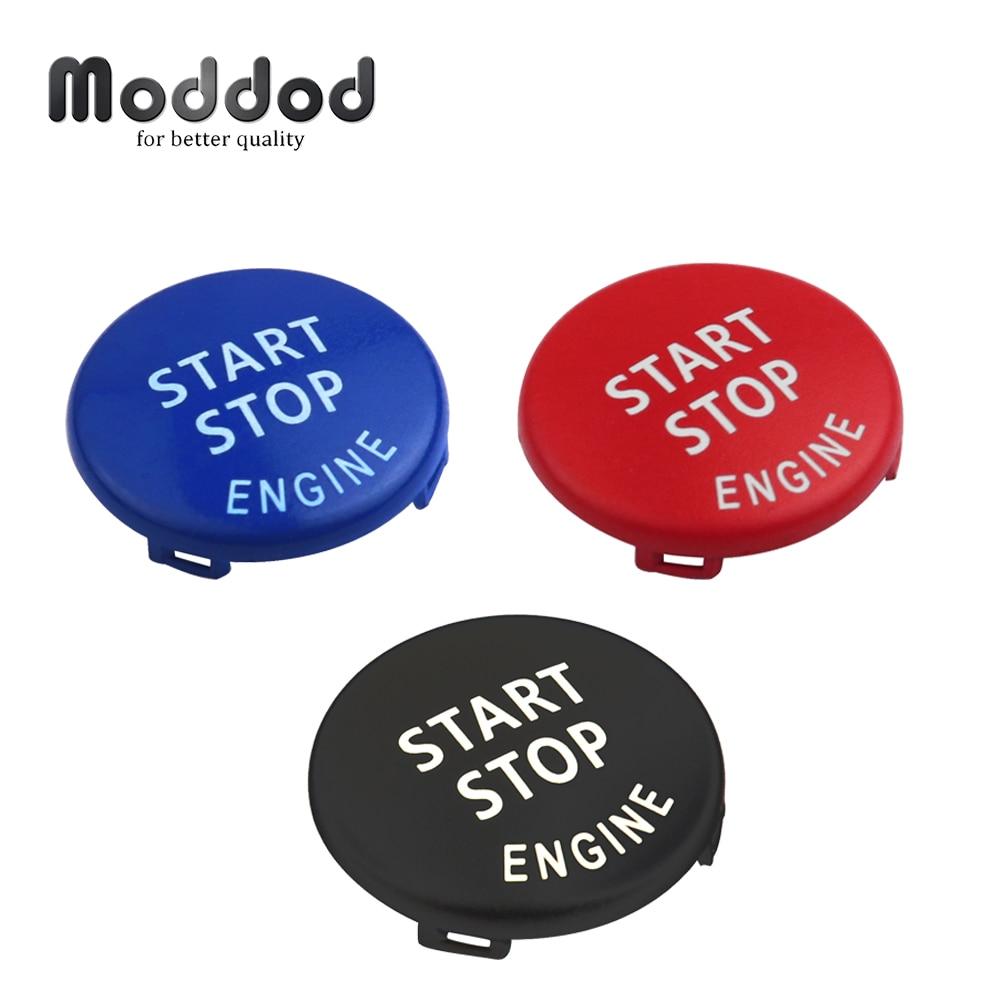 Start stop botão do motor substituir cove para bmw x1 x5 e70 x6 e71 z4 e89 3 série 5 e90 e91 e60 chave decoração anel guarnição tampa interruptor kit