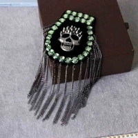 one piece breastpin tassels shoulder board mark knot epaulet patch metal patches badges applique patch for clothing sc 2571