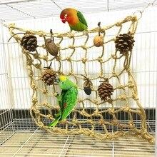 Pet Vogel Seltsame Lustige Klettern Net Papageien Käfig Hängen Spielzeug Cockatoo Vogel Spielzeug Mit Muttern Vogel Zubehör Für Papagei