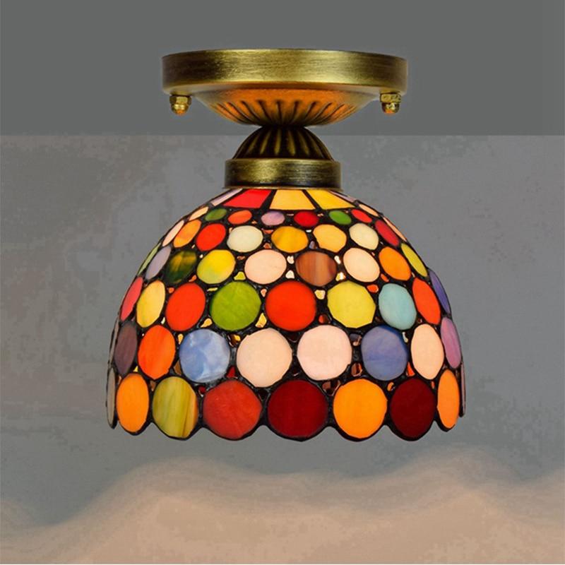 Lámpara de techo Tiffany, lámpara de araña clásica, lámpara colgante para habitación,...