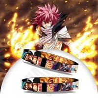 fairy tail bracelet mens 2021 japanese anime accessories etherious natsu dragneel bangles cartoon jewelry wristband wholesale