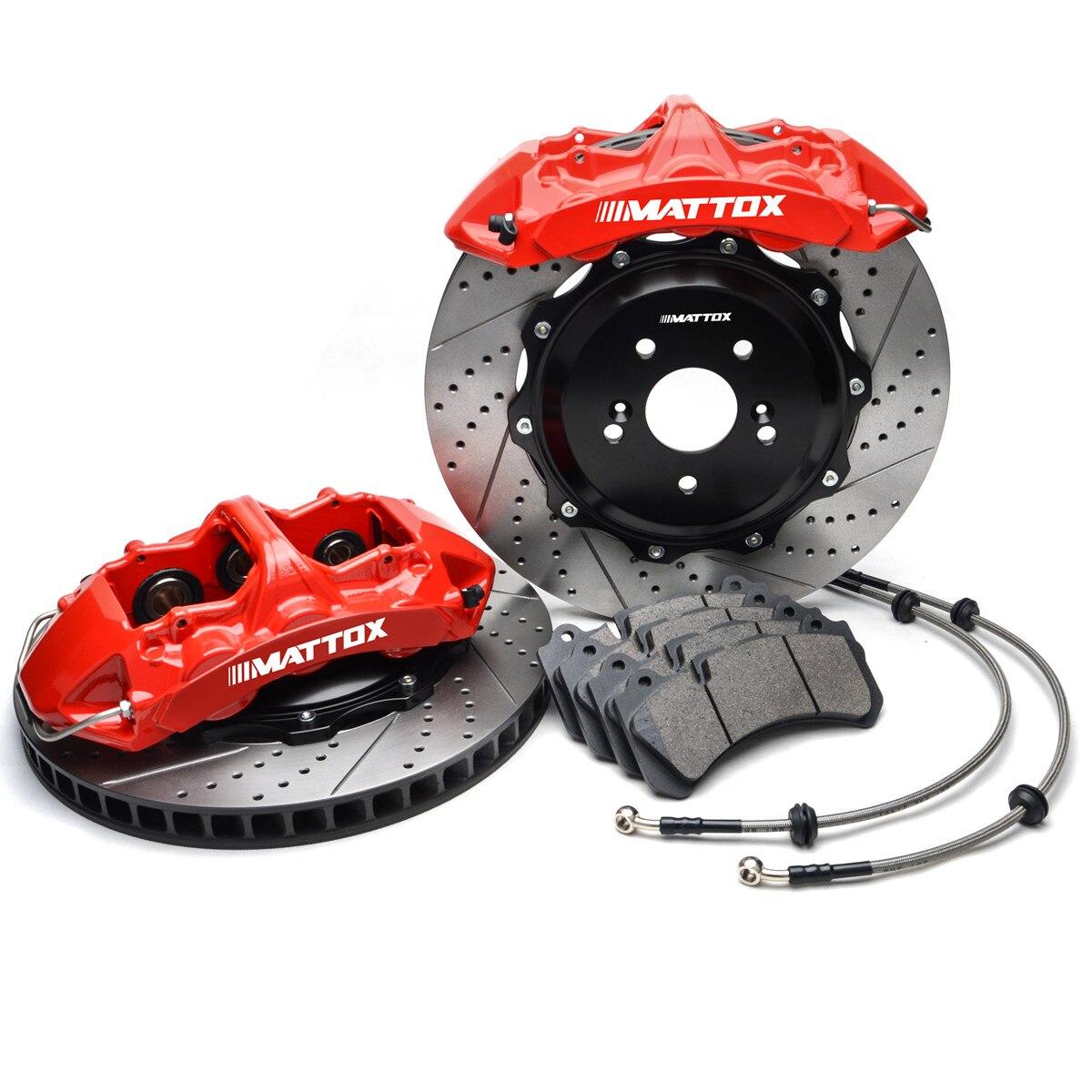 Pinza de freno de disco ranurado Mattox para Rotores de freno de carreras de coches 378*32mm para Lexus LS430 2001 2006 frontal 19-22 pulgadas