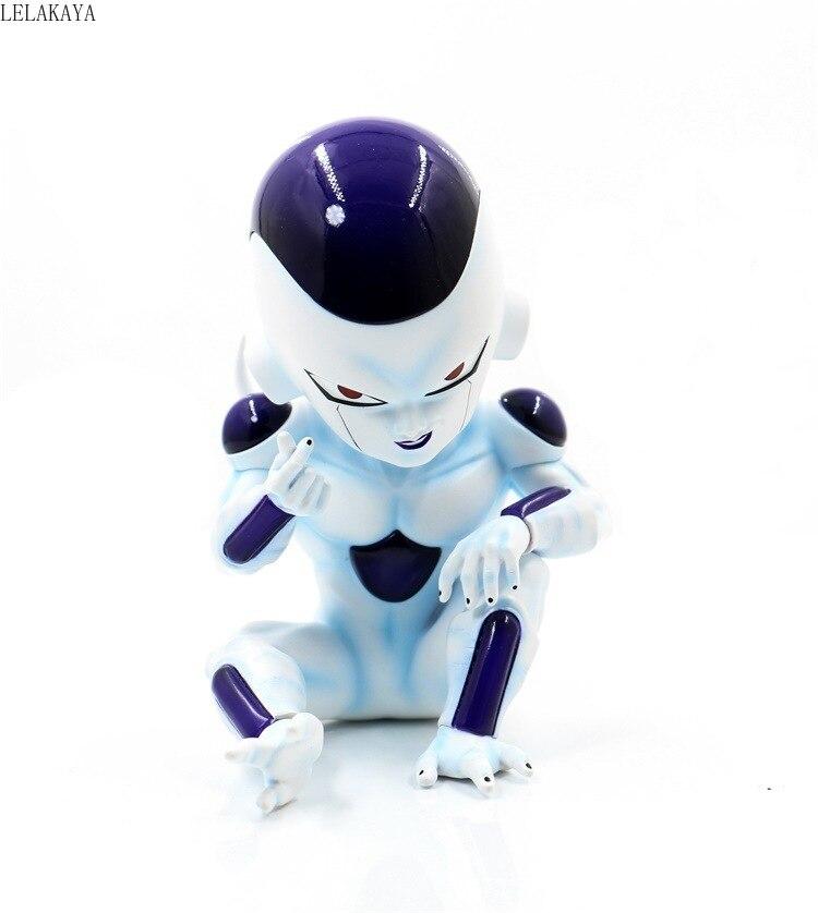 Estatua GK de Japón de Dragon Ball Z Frieza Feeza forma Final blanca posición sentada colección de figuras de acción de PVC modelo juguetes regalo