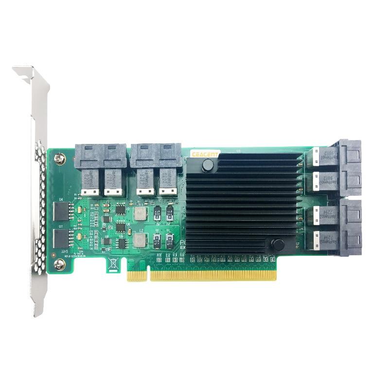 ANU28PE16 NVMe SSD Riser SFF8643 إلى SFF8639 ، 8 منفذ 12Gbs ، (ليس مع الكابلات ، لا يدعم LSI 8643*2 إلى 8639*2 كابل)
