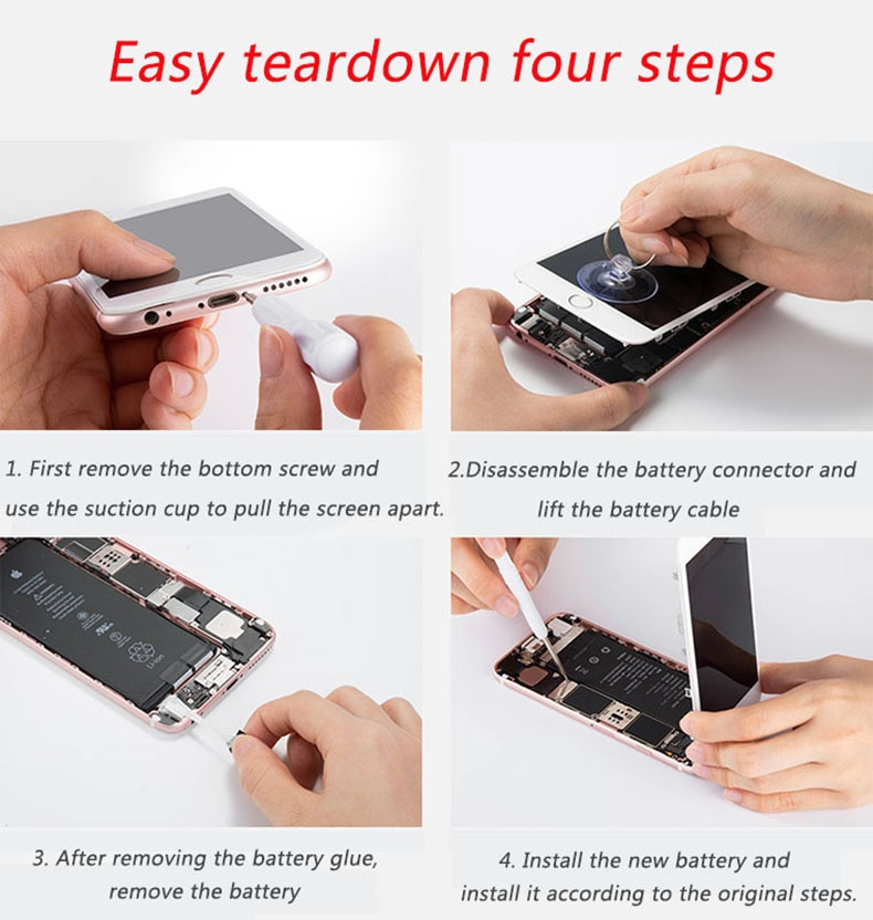 2021 Original 10pcs/lot Dadaxiong Factory Battery 1715mAh 3.82V Battery for iPhone 6S replacement repair 0 cycle 100% Genuine enlarge