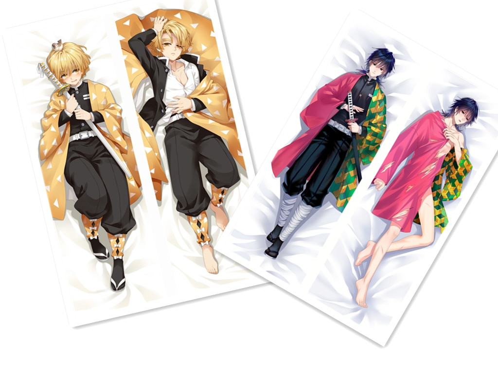Mxdfafa anime demon slayer kimetsu não yaiba dakimakura caso dos desenhos animados abraçando o corpo fronhas decorativas otaku