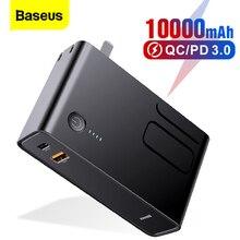 Cargador USB 10000mAh Baseus, Cargador USB C PD 3,0 QC 3,0, carga rápida 3,0, cargador de batería externo portátil