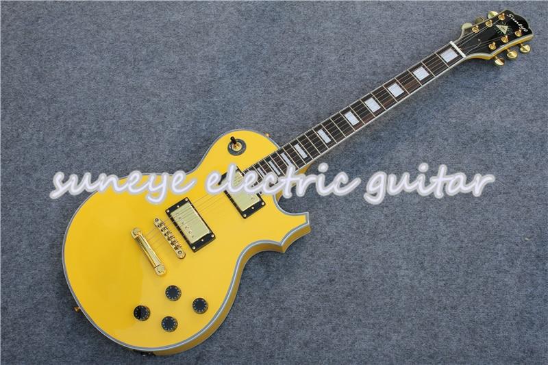 Suneye-Crema de Guitarra eléctrica personalizada, acabado brillante, bricolaje, Kit de Guitarra para...