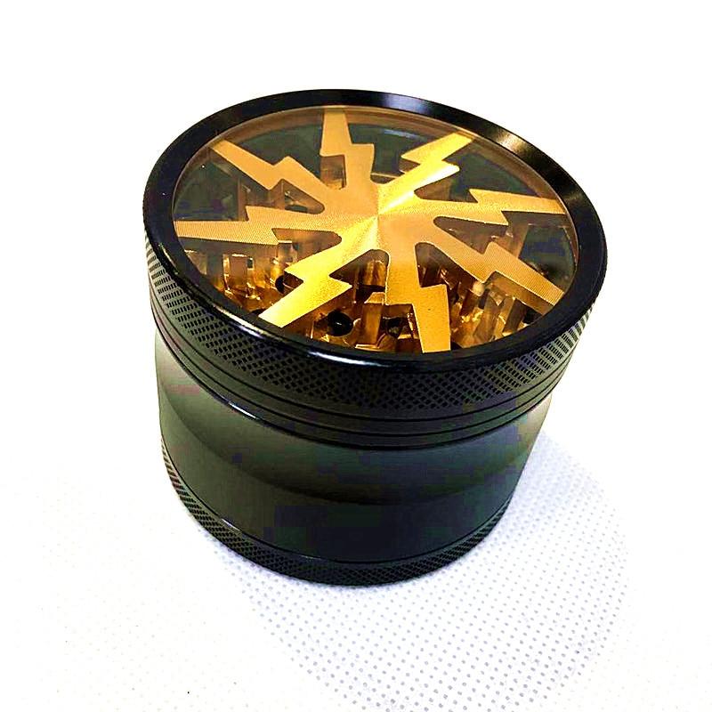Błyskawica duży młynek do ziół młynek do chwastów 4 warstwy 63mm Wiet Crusher tytoń dym chwastów akcesoria